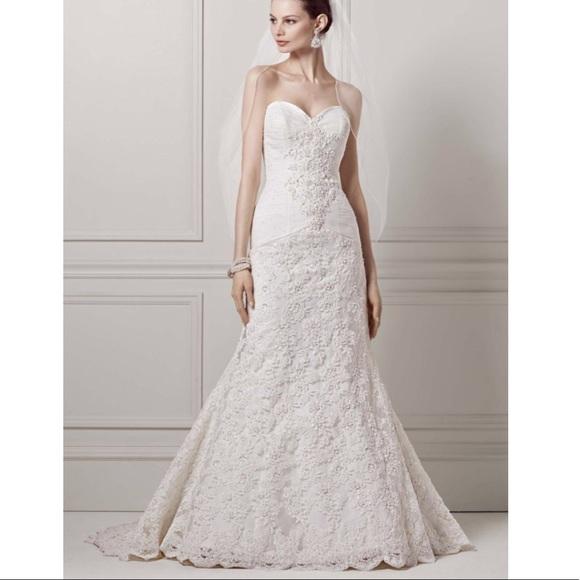 25b957085c44 Oleg Cassini Dresses | Davids Bridal Crl277 Strapless Dress | Poshmark